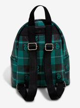 Load image into Gallery viewer, Loungefly Harry Potter Slytherin Plaid Mini Backpack