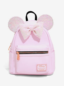 Loungefly Disney Minnie Mouse Holographic Sequin Mini Backpack