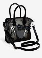Load image into Gallery viewer, Loungefly Jack and Sally Graveyard Satchel