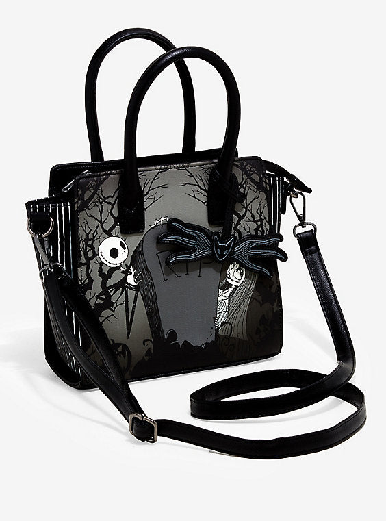 Loungefly Jack and Sally Graveyard Satchel