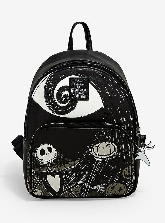 Loungefly The Nightmare Before Christmas Jack Spiral Hill Mini Backpack