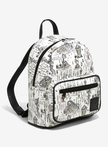Loungefly The Nightmare Before Christmas Halloween Town Map Mini Backpack