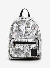 Charger l'image dans la galerie, Loungefly The Nightmare Before Christmas Halloween Town Map Mini Backpack