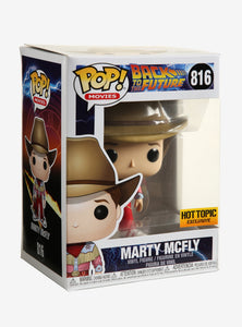 Funko Pop! #816 Marty McFly Cowboy (HT Excl)