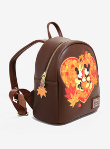 Loungefly Disney Mickey & Minnie Autumn Mini Backpack