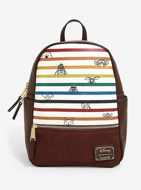Loungefly Disney Winnie the Pooh Striped Mini Backpack