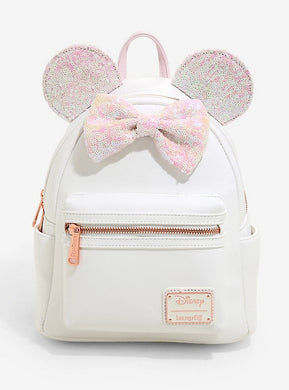 Loungefly Disney Minnie Mouse Iridescent Sequin Mini Backpack