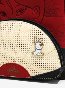 Loungefly Disney Mulan Fan Pin Collector Mini Backpack