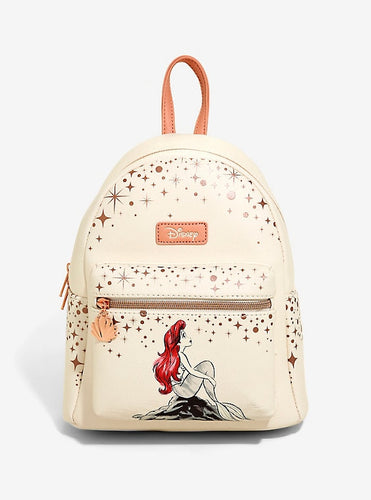 Loungefly Disney The Little Mermaid Ariel Rose Gold Mini Backpack