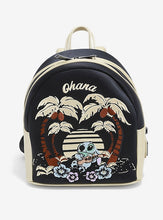 Load image into Gallery viewer, Loungefly Disney Lilo And Stitch Ohana Gold Mini Backpack