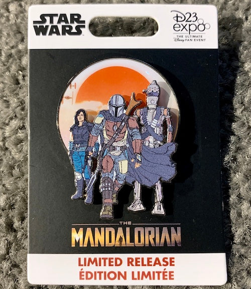 Mandalorian Trading Pin D23 Exclusive