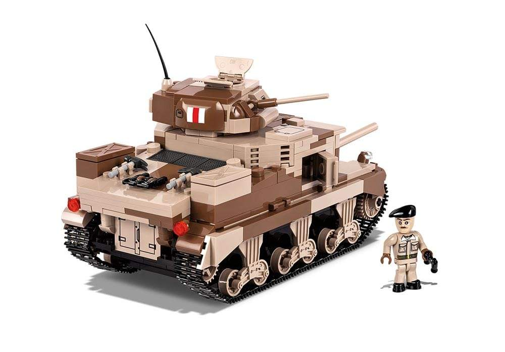 Zijaanzicht van een stilstaande Cobi 2391 historical collection world war 2 m3 grant tank