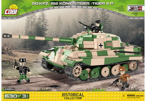 Voorkant van de Cobi 2480A bouwset World War II Historical Collection SD.KFZ. 182 Königstiger Tiger IIP zware Duitse tank