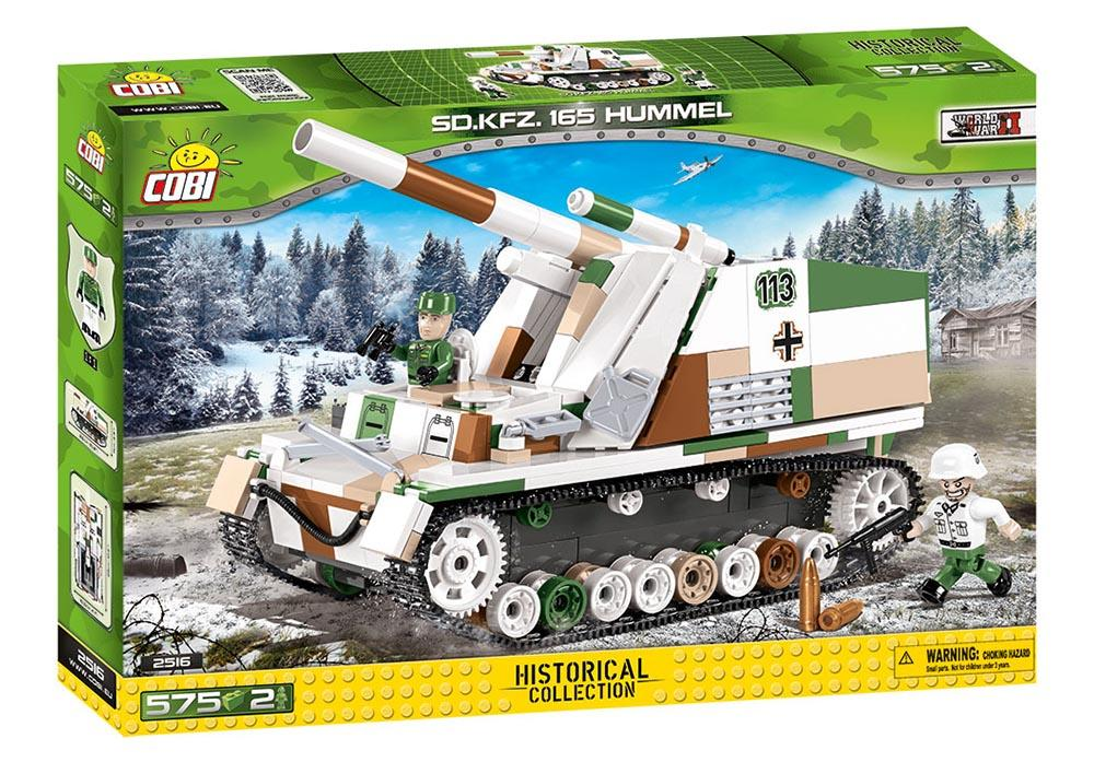 Voorkant van de doos van de Cobi 2516 historical collection world war 2 sd.kfz 165 Hummel artillerie tank