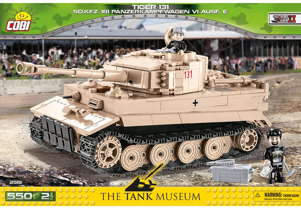 Voorkant van de Cobi 2519 bouwset World War II Historical Collection Tiger 131 tank SD.KFZ. 181 Panzerkampfwagen VI Ausf. E (Panzer 6)