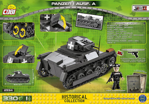 Achterkant van de Cobi 2534 bouwset World War II Historical Collection Panzer I Ausf. A tank