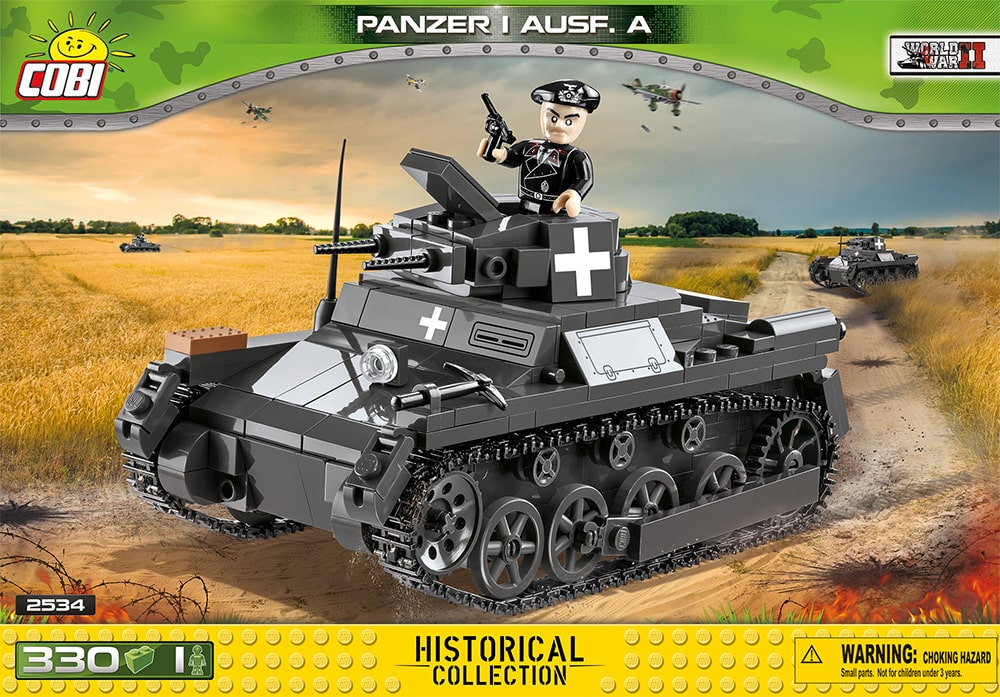Voorkant van de Cobi 2534 bouwset World War II Historical Collection Panzer I Ausf. A tank