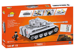 Achterkant van de doos van de Cobi 3000B world of tanks Tiger 1 tank