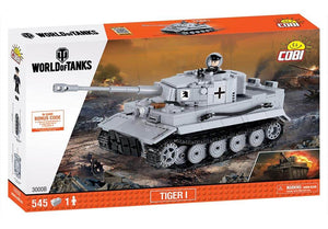 Voorkant van de doos van de Cobi 3000B world of tanks Tiger 1 tank