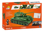 Achterkant van de doos van de Cobi 3005A world of tanks T-34-85 tank