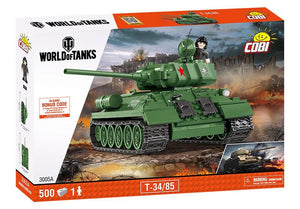 Voorkant van de doos van de Cobi 3005A world of tanks T-34-85 tank