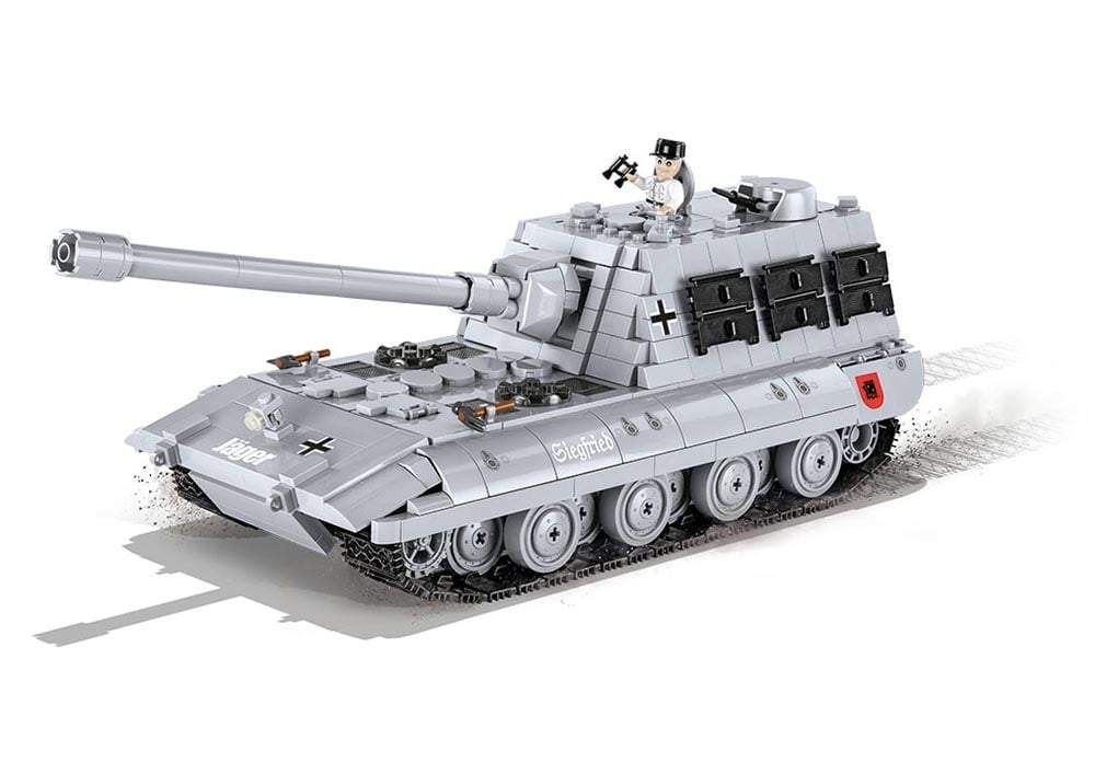 Zijaanzicht van een stilstaande Cobi 3036 world of tanks Jagdpanzer E 100 tank