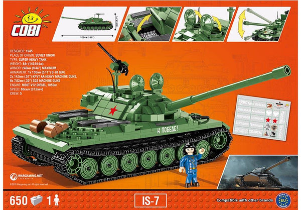 Achterkant van de Cobi 3038 bouwset world of tanks IS-7 tank