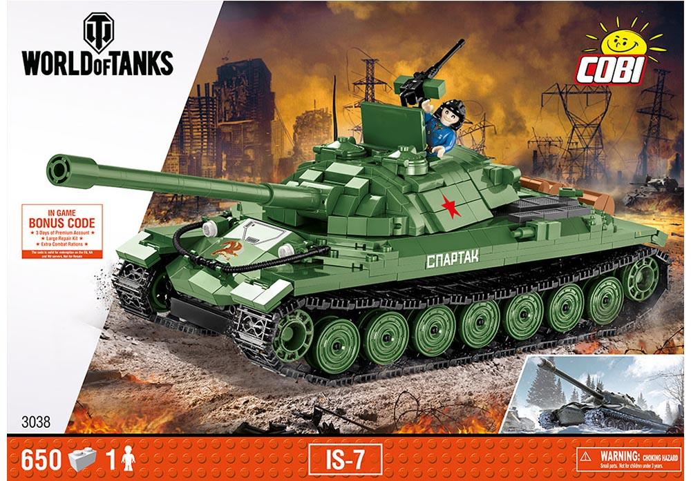 Voorkant van de Cobi 3038 bouwset world of tanks IS-7 tank