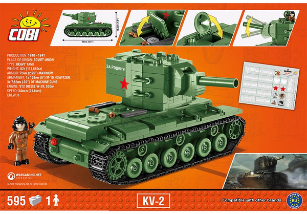 Achterkant van de Cobi 3039 KV-2 tank World of Tanks Collectie