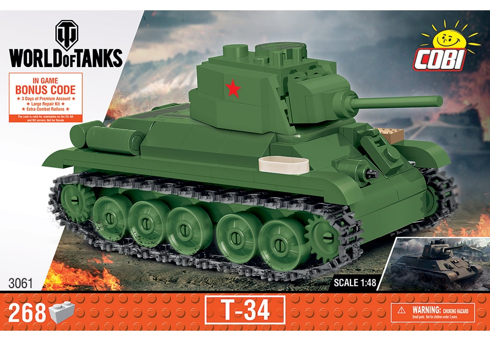 COBI World of Tanks: T-34 Tank / 1:48 schaal (3061)