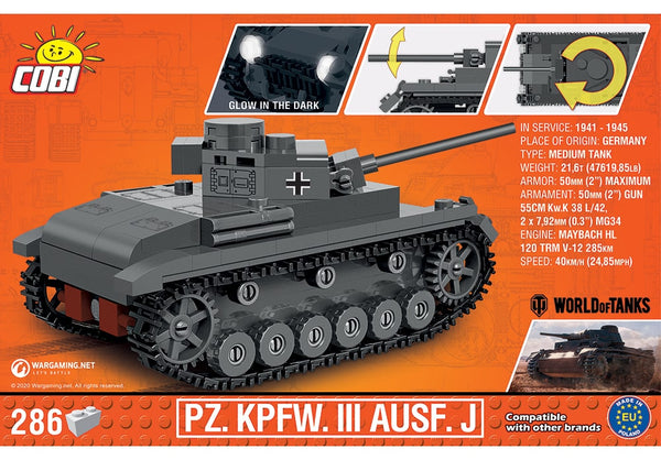 COBI World of Tanks: Panzer III Tank / 1:48 schaal (3062)