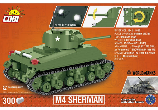 COBI World of Tanks: M4 Sherman Tank / 1:48 schaal (3063)