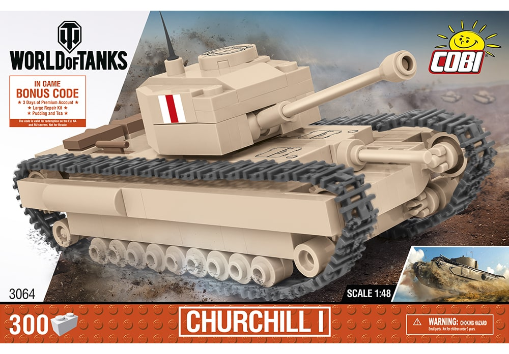 COBI World of Tanks: Churchill I Tank / 1:48 schaal (3064)