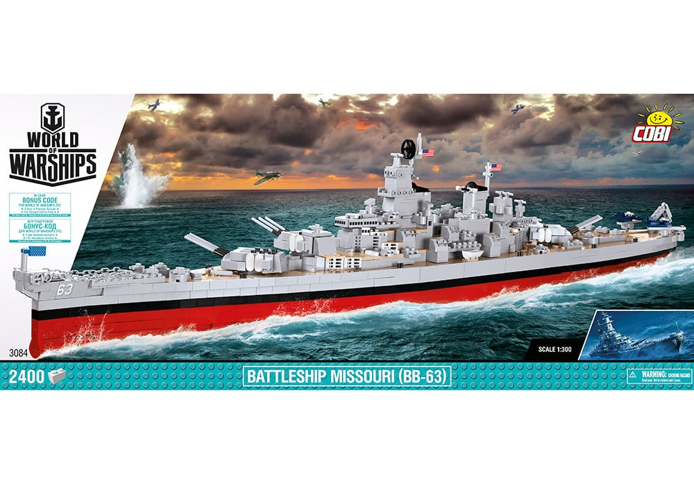 COBI World of Warships: Battleship Missouri BB-63 (3084)