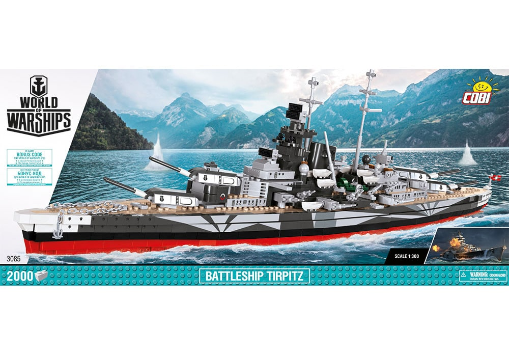 COBI World of Warships: Battleship Tirpitz (3085)