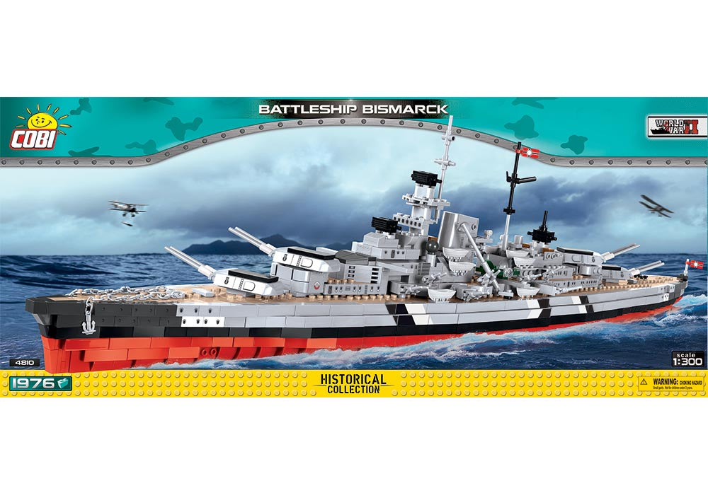 Voorkant van de Cobi 4810 bouwset historical collection world war 2 battleship bismarck