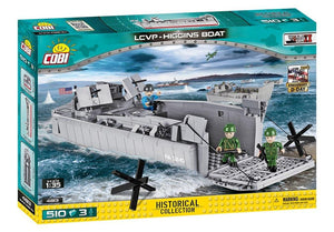 Voorkant van de doos van de Cobi 4813 historical collection world war 2 lcvp-higgins boat landingsvaartuig
