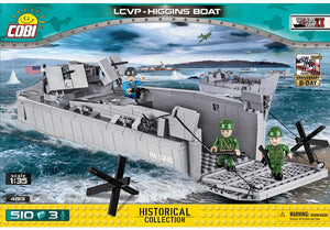 Voorkant van de Cobi 4813 bouwset historical collection world war 2 lcvp-higgins boat landingsvaartuig