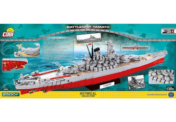 Achterkant van de Cobi 4814 bouwset historical collection world war 2 yamato battleship