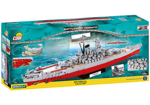 Achterkant van de doos van de Cobi 4814 historical collection world war 2 yamato battleship