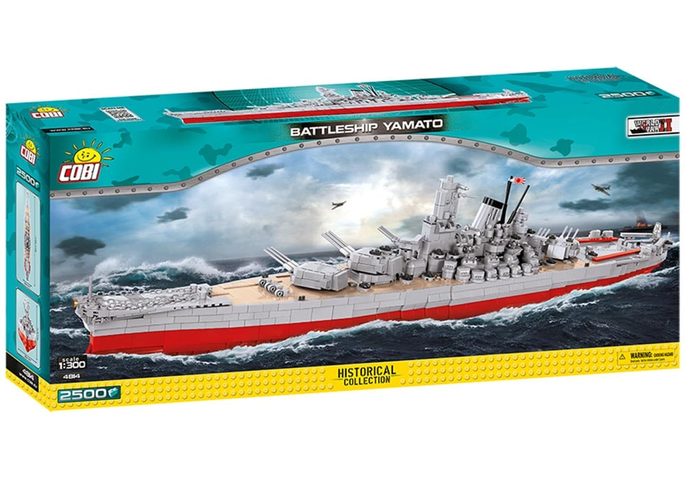 Voorkant van de doos van de Cobi 4814 historical collection world war 2 yamato battleship
