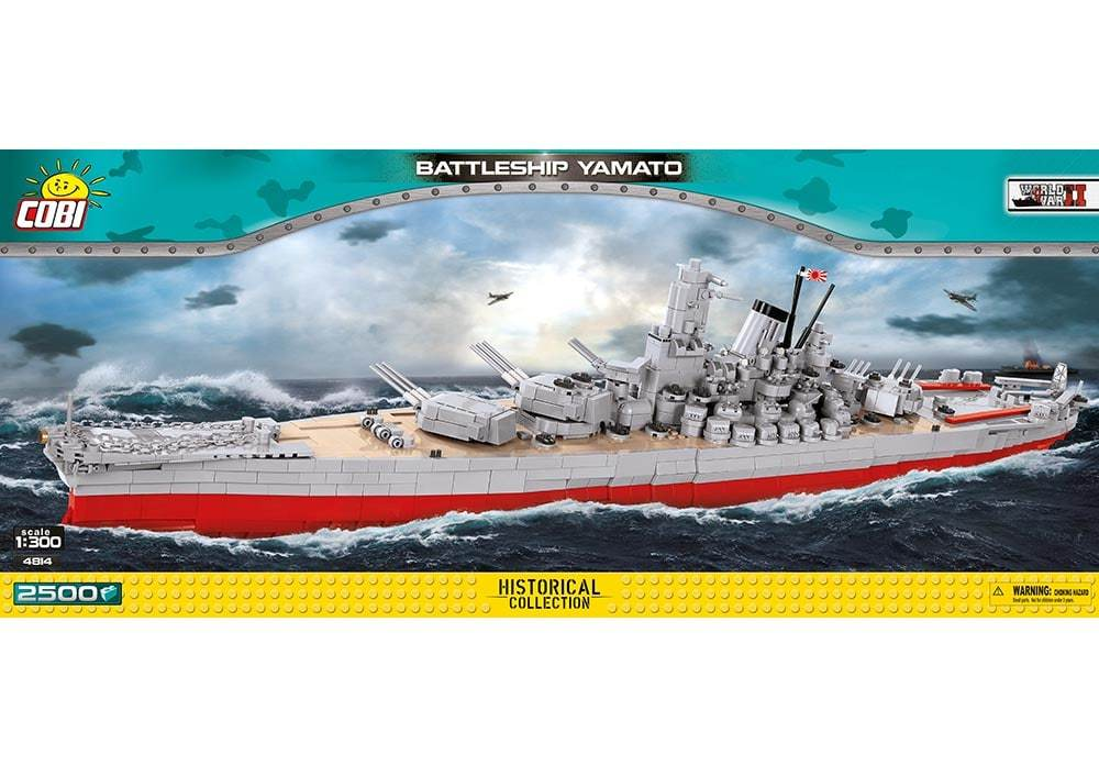 Voorkant van de Cobi 4814 bouwset historical collection world war 2 yamato battleship