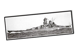 Historische foto van de zijkant van de yamato Cobi 4814 historical collection world war 2 yamato battleship
