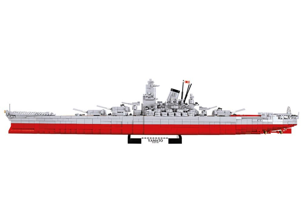 Zijaanzicht van het slagschip Cobi 4814 historical collection world war 2 yamato battleship