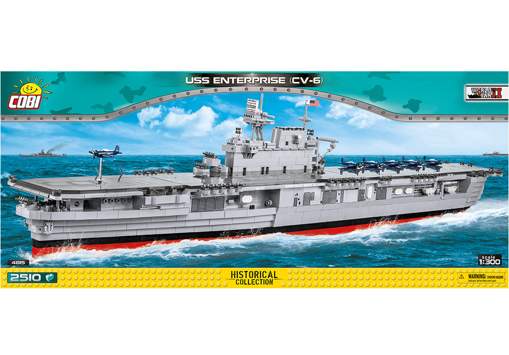 Voorkant van de Cobi 4815 bouwset historical collection world war 2 uss enterprise cv-6 vliegdekschip