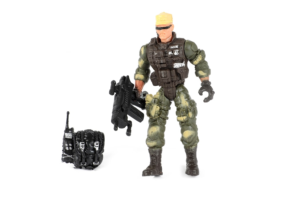 Toi-Toys Army Special Forces actiefiguur soldaat comspec close-combat met walkie-talkie