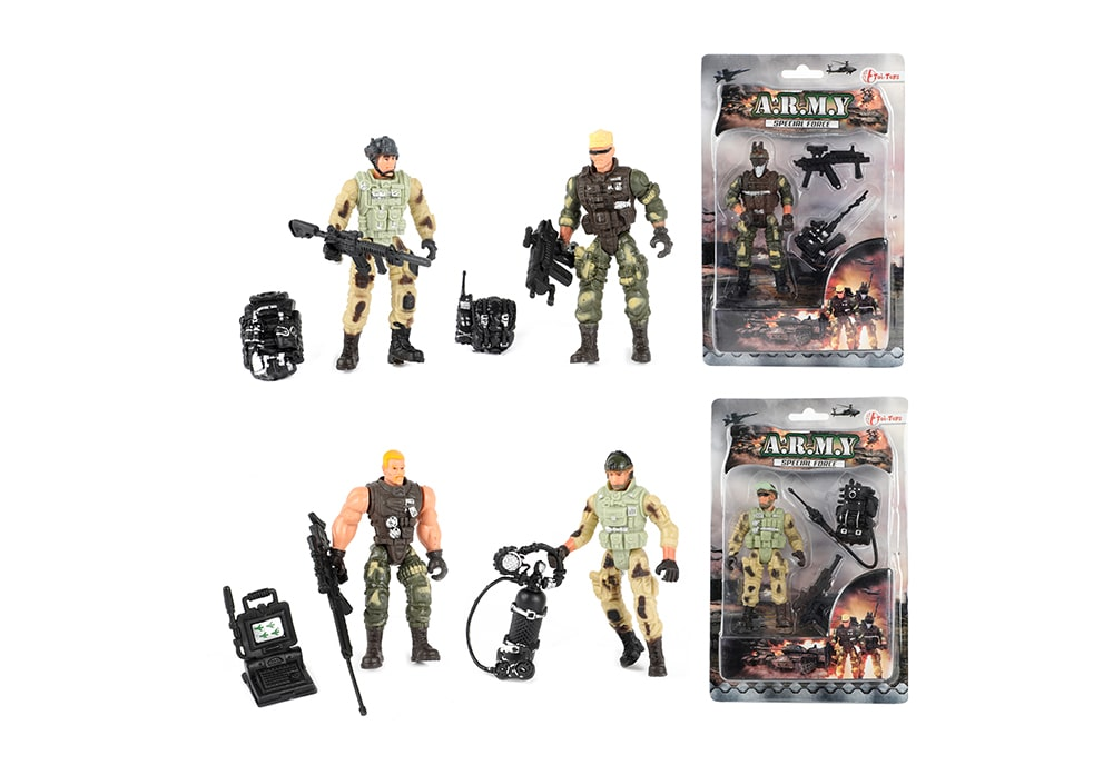 Complete collectie Toi-Toys Army Special Forces zes actiefiguren met specialismes