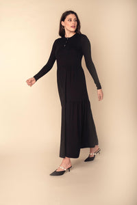 Parni Jersey Tiered Maxi Dress