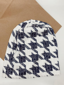 Oversized Houndstooth Beanie