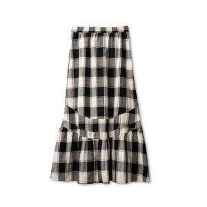 Checkered One Tier Skirt